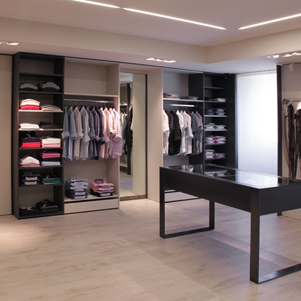 A boutique with textile finishes