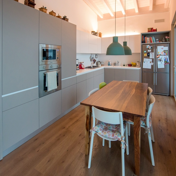 Contemporary style with shabby chic elements