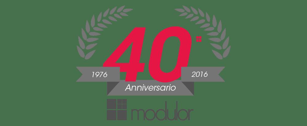 grafica 40 anni Modulor