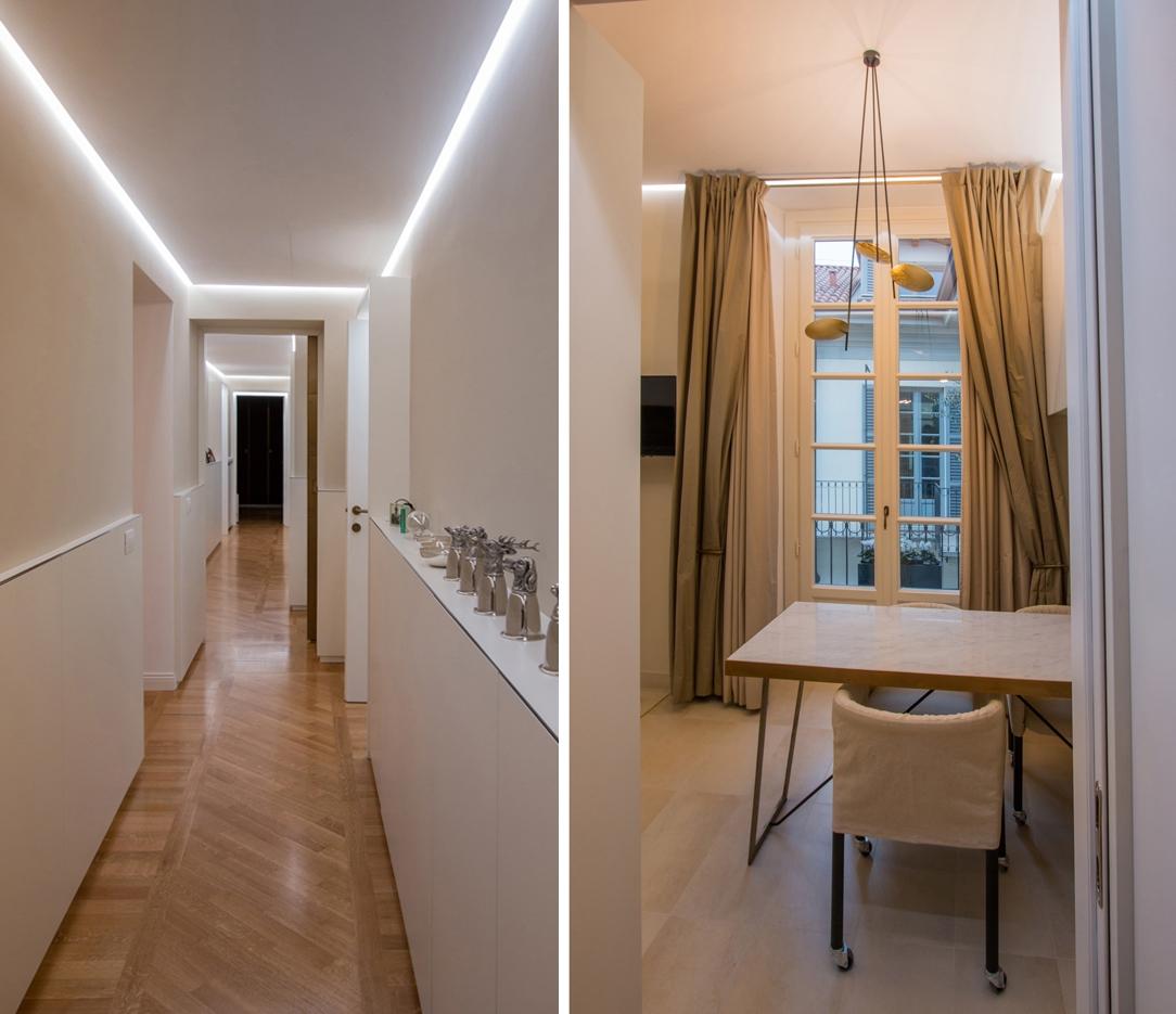 cucina e corridoio appartamento Milano