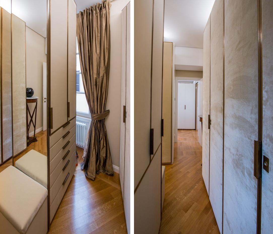 dettagli armadiature appartamento Milano