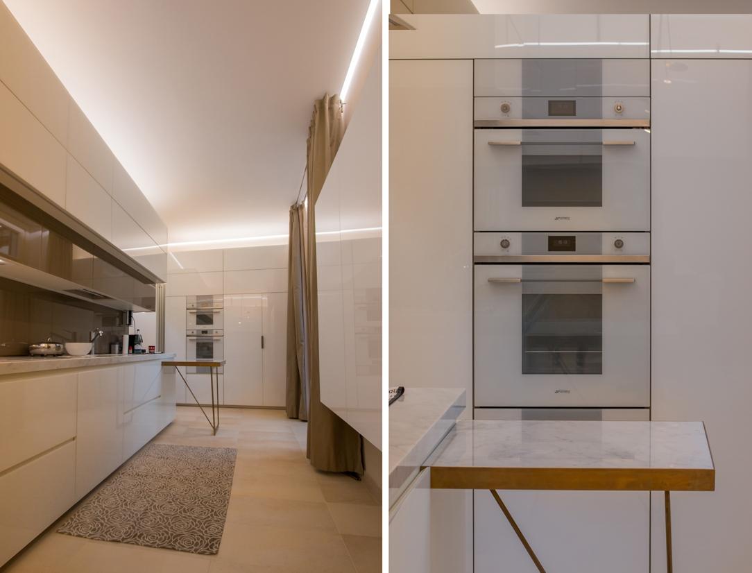 dettagli cucina appartamento Milano