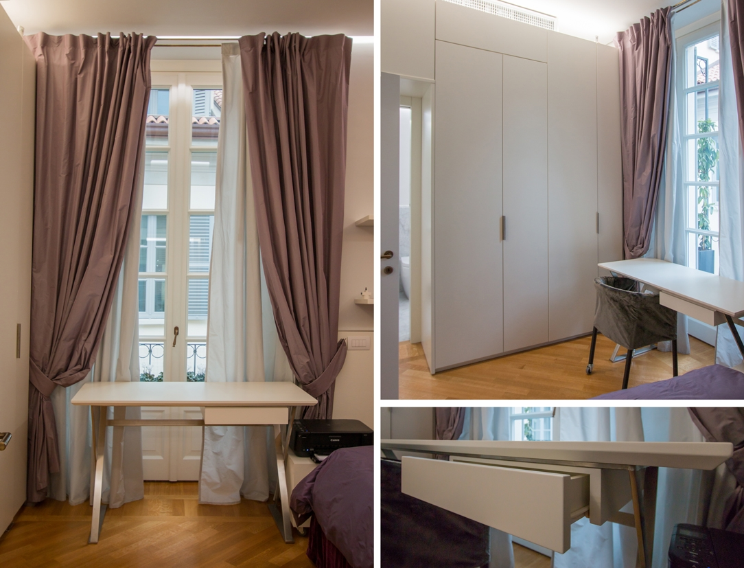 dettagli camera ragazza appartamento Milano