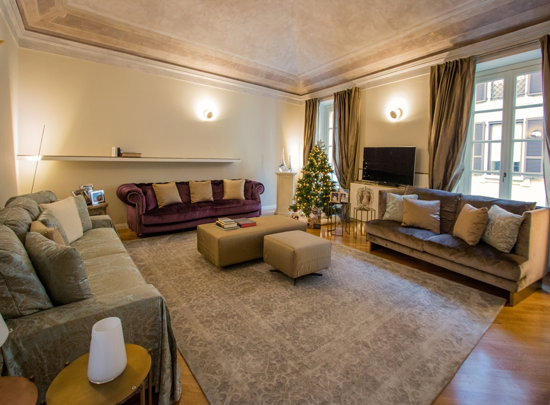 eleganza appartamento Milano soggiorno 01