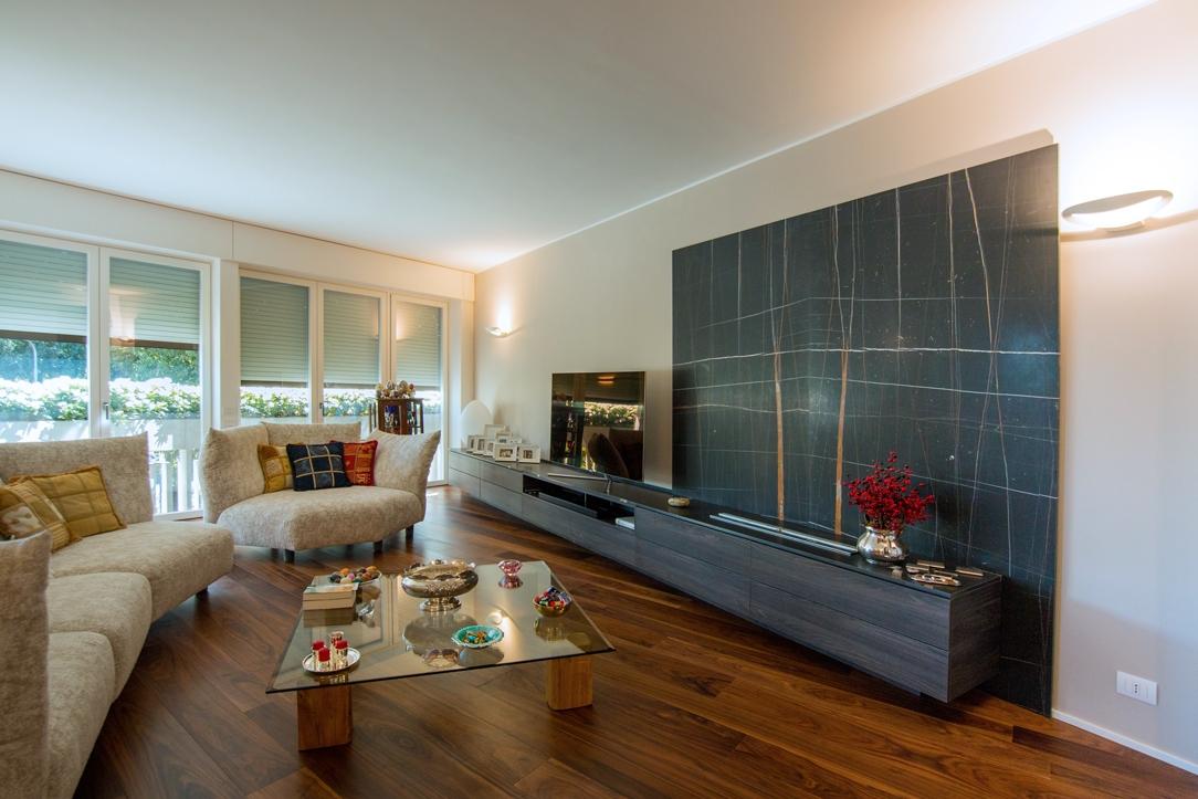 appartamento finiture eleganti Milano Living room