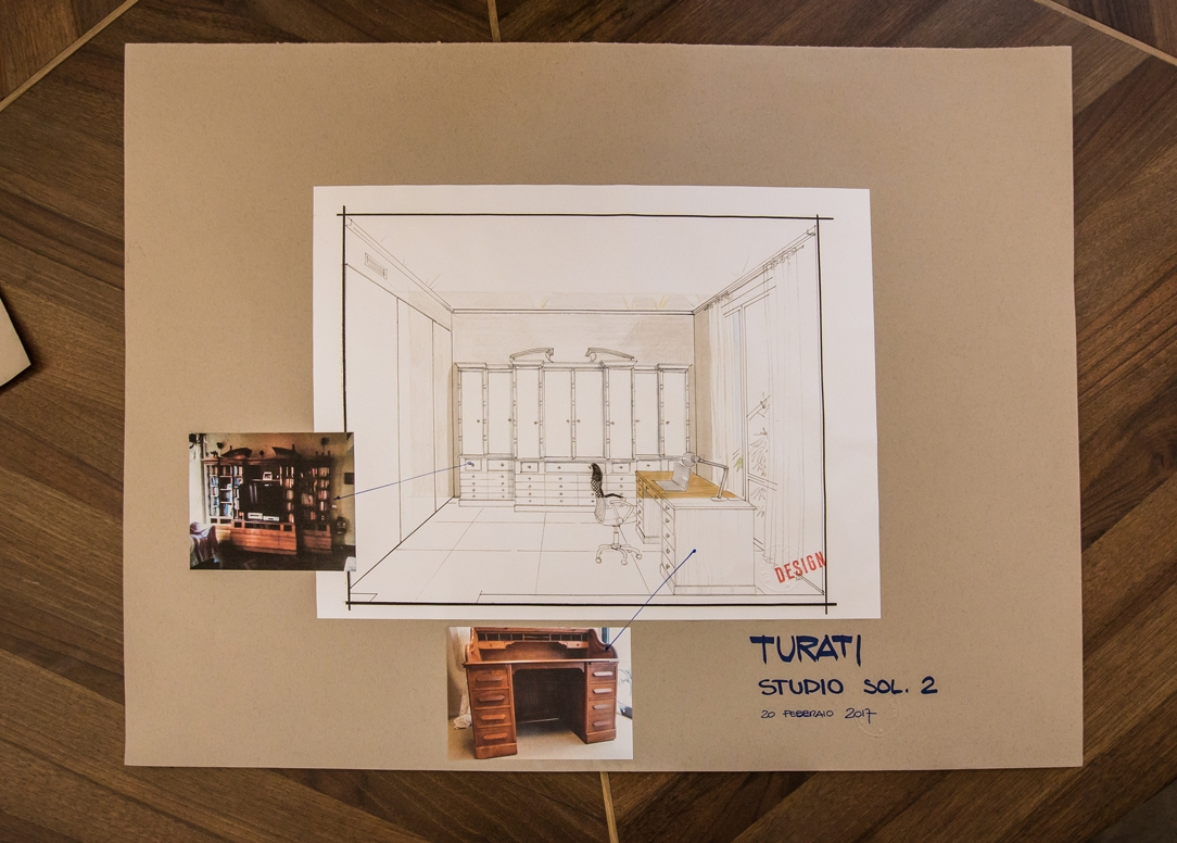 hand-drawn project studio