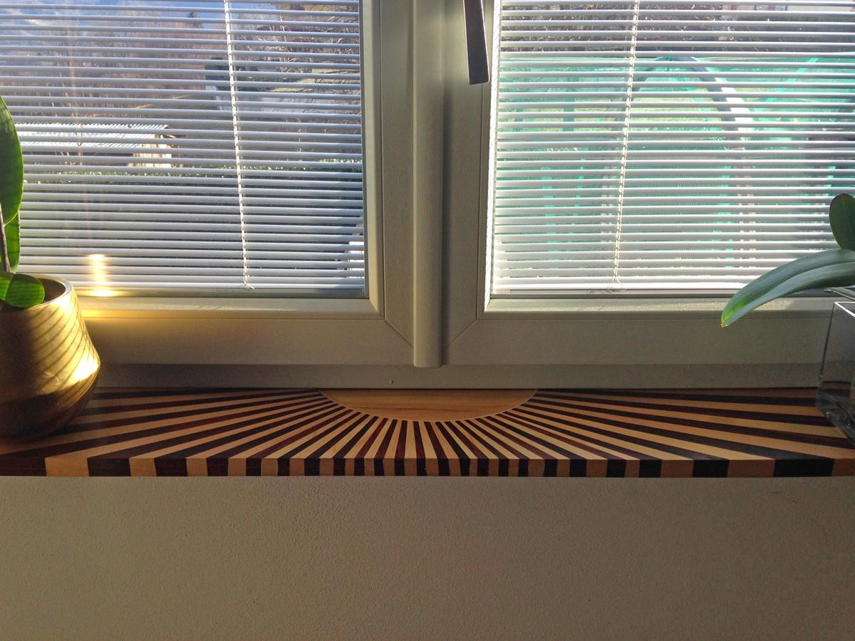 Front view davanzale legno