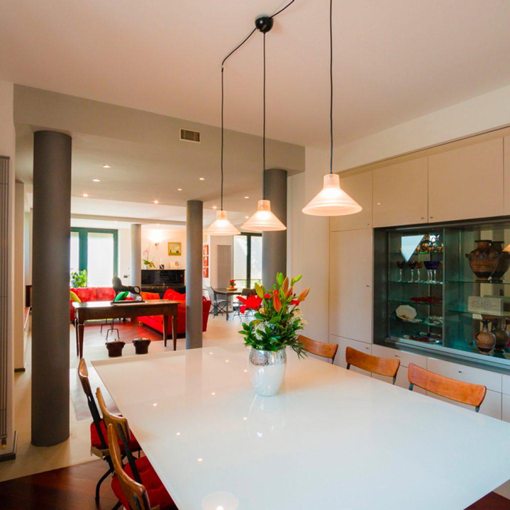 sala pranzo linee moderne