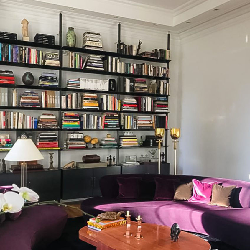 The verticality as a design element of an apartment