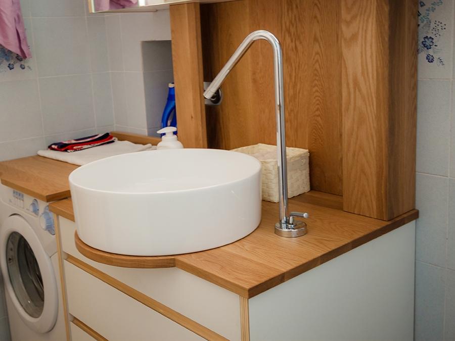 lavandino design appartamento Liguria