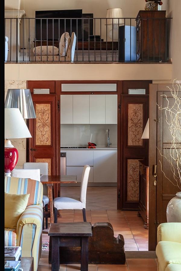 traditional villa Sicily kitchen view
