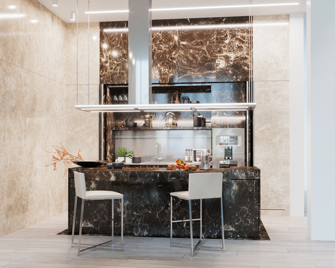 render cucina in marmo 01