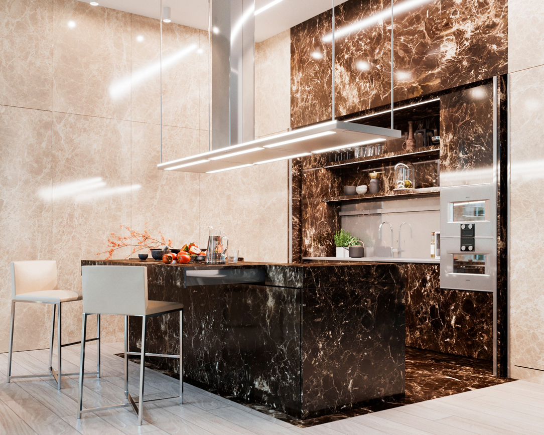 render cucina in marmo 02
