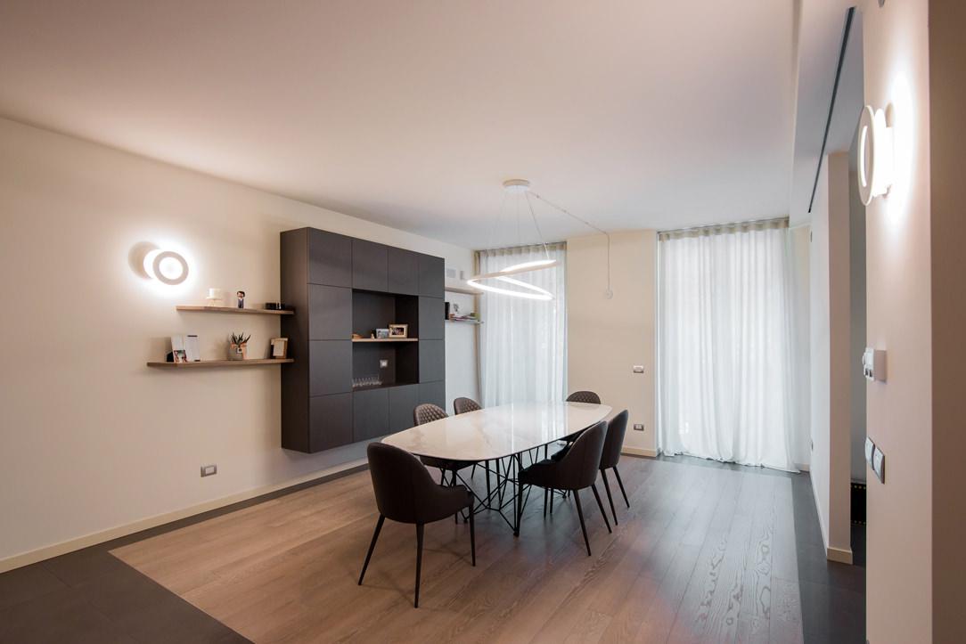 appartamento Bergamo essenziale contemporaneo zona giorno 03
