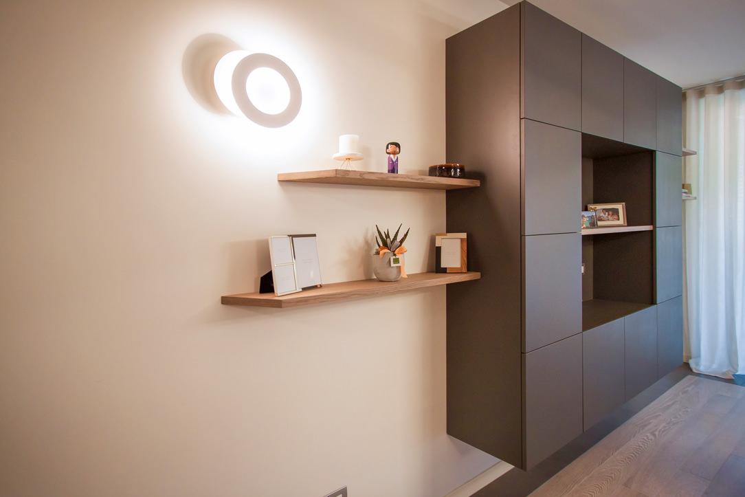 appartamento Bergamo essenziale contemporaneo zona giorno 02