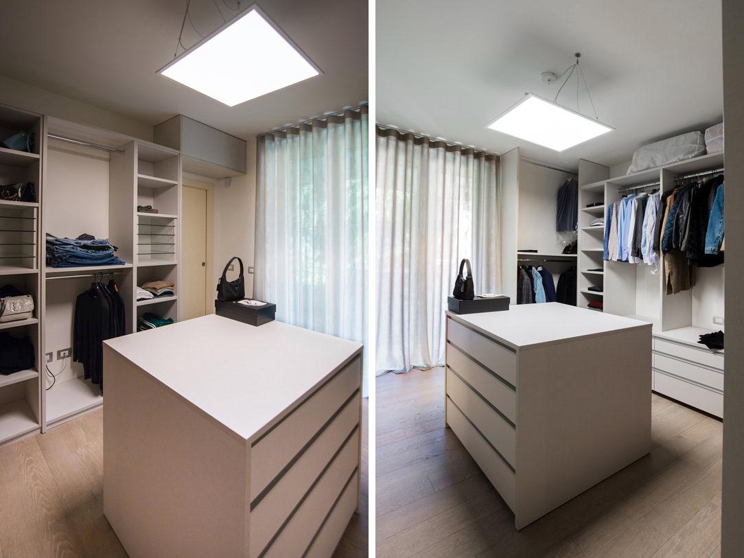 appartamento Bergamo essenziale contemporaneo cabina armadio