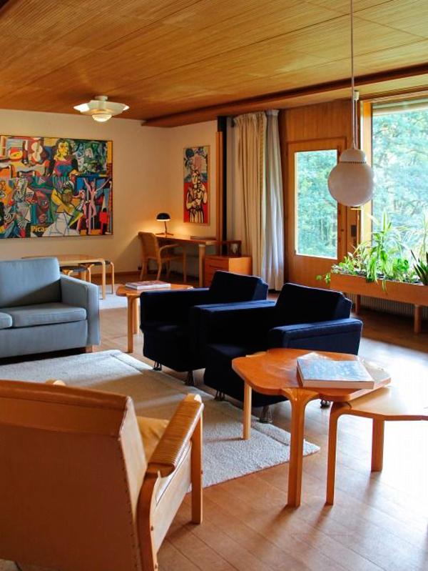 Stile scandinavo Alvar Aalto villa Carrè