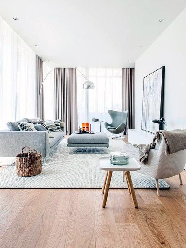 Living room stile scandinavo