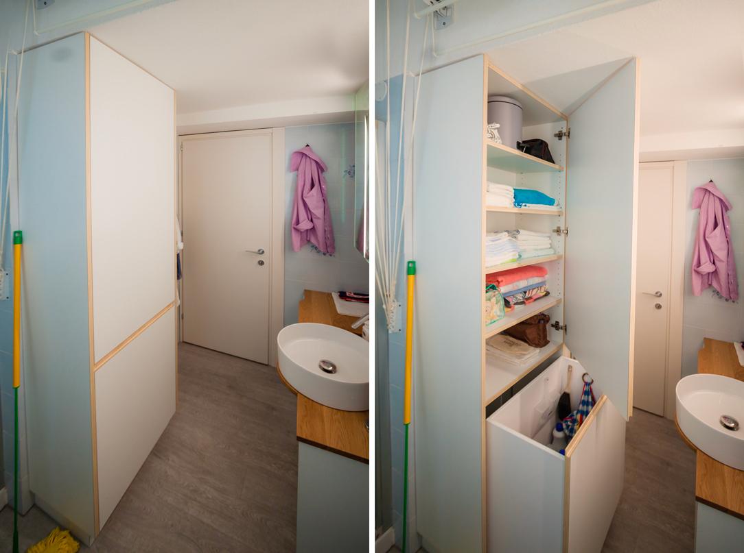armadio bagno servizio