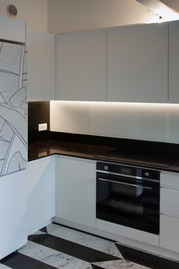 refrigerator view minimal kitchen