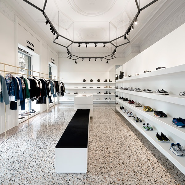 Minimal fitting of THE F1RST's sneakers store