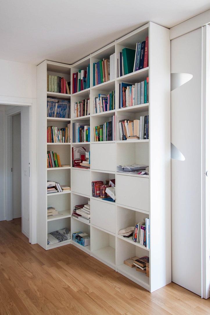 libreria ingresso laccato bianco