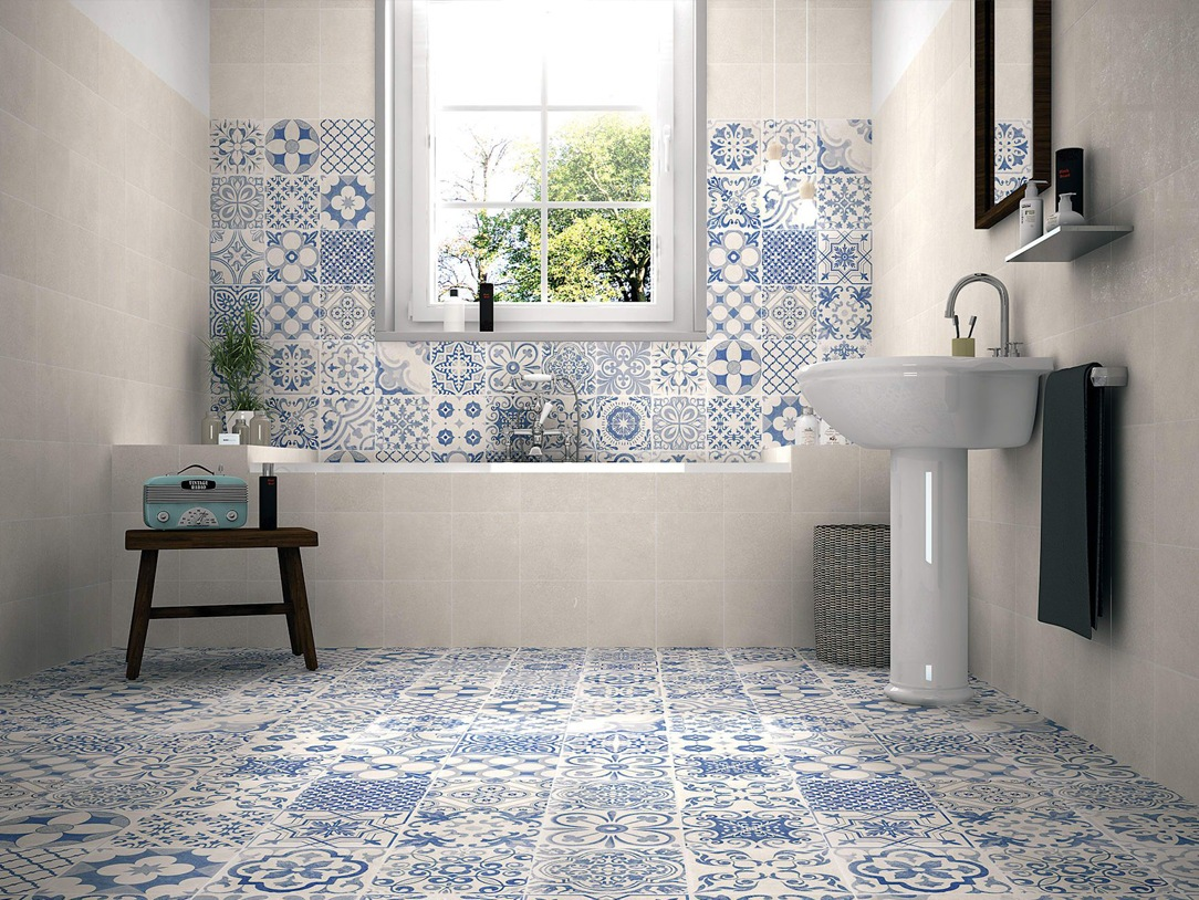 bagno country piastrelle