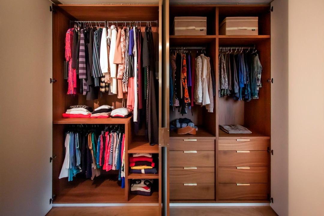 internal configuration wardrobe front view woman part