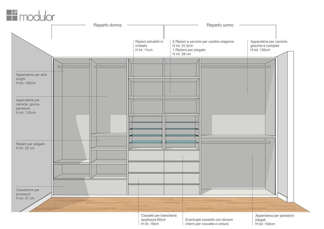 Modulor internal configuration wardrobe proposal 01