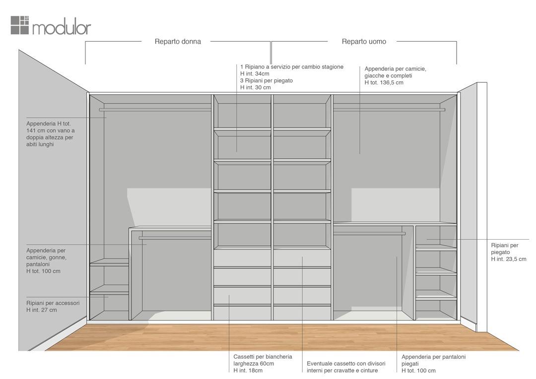 Modulor internal configuration wardrobe proposal 02