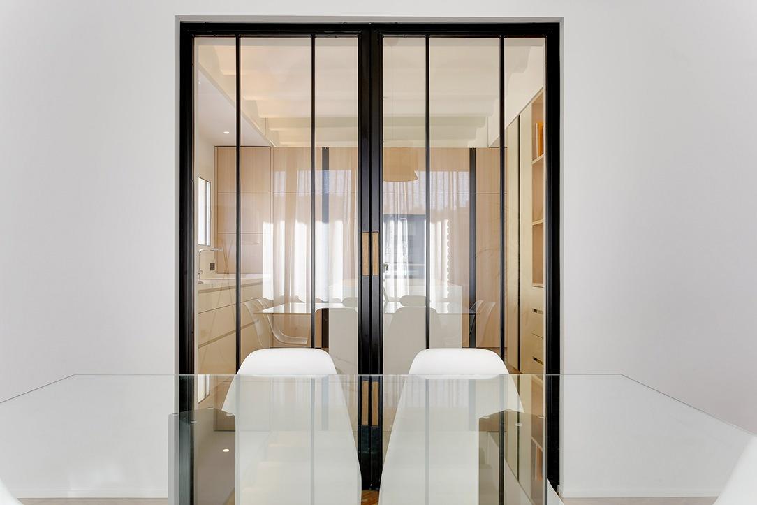 ingresso cucina ante vetro