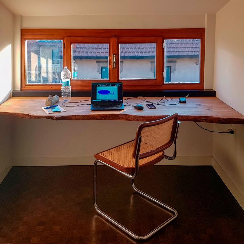 Designing a smartworking corner according to Modulor