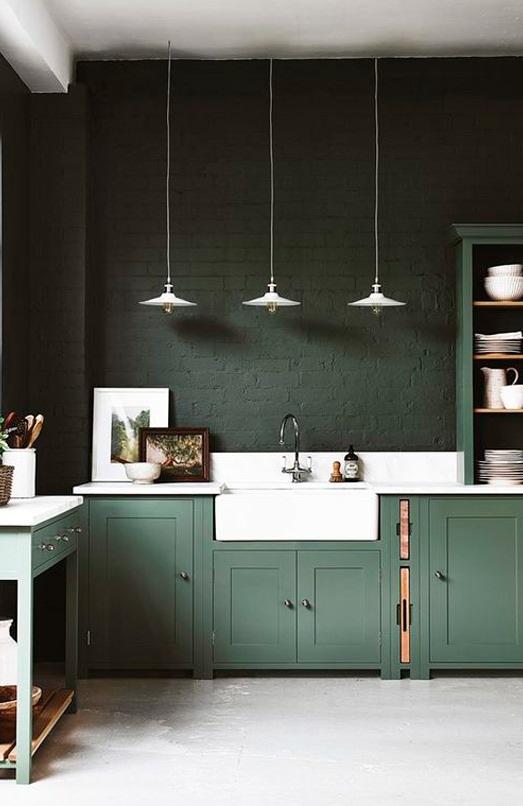 cucina classica moderna verde