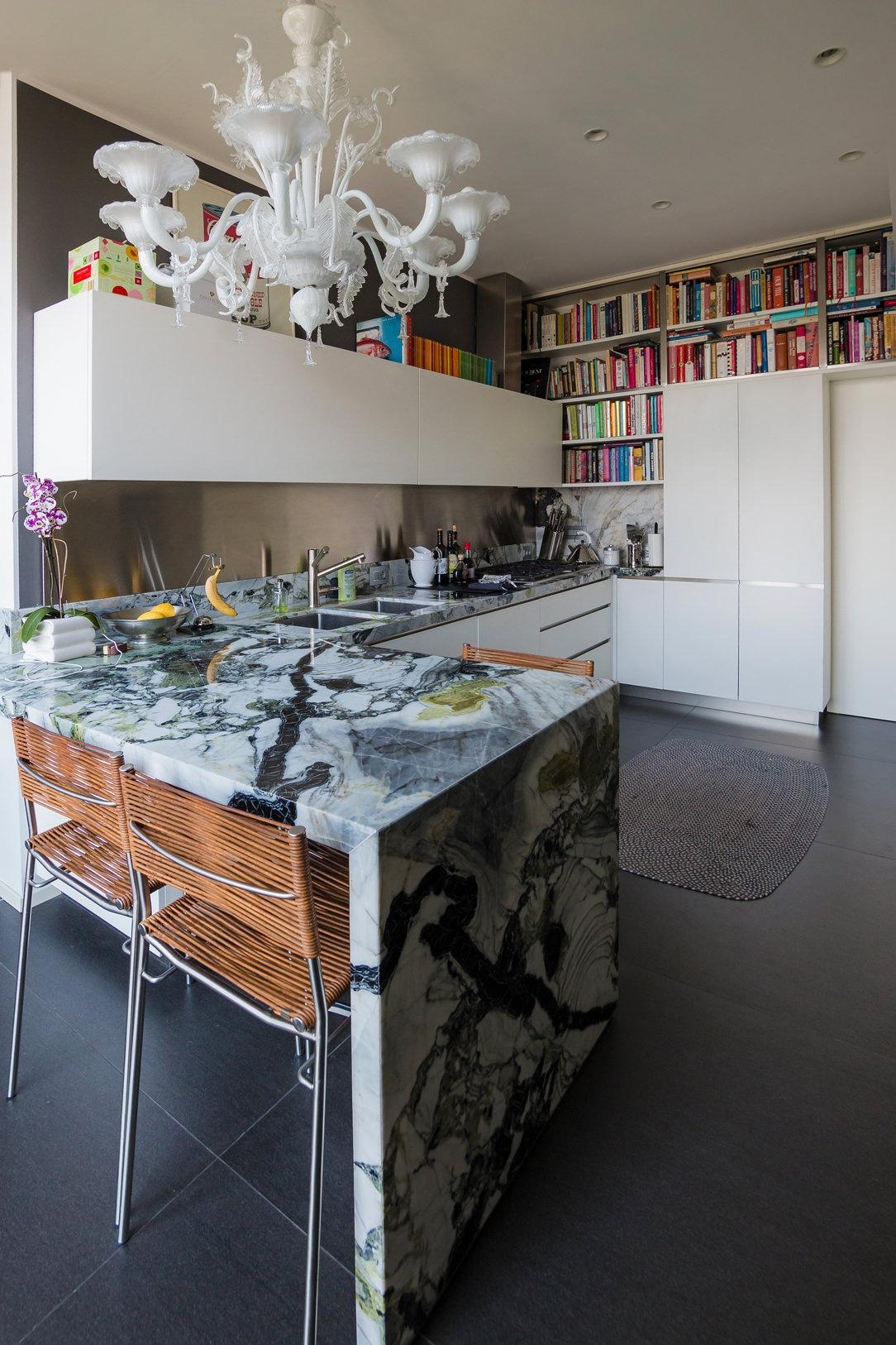 cucina marmo wasabi prospetto