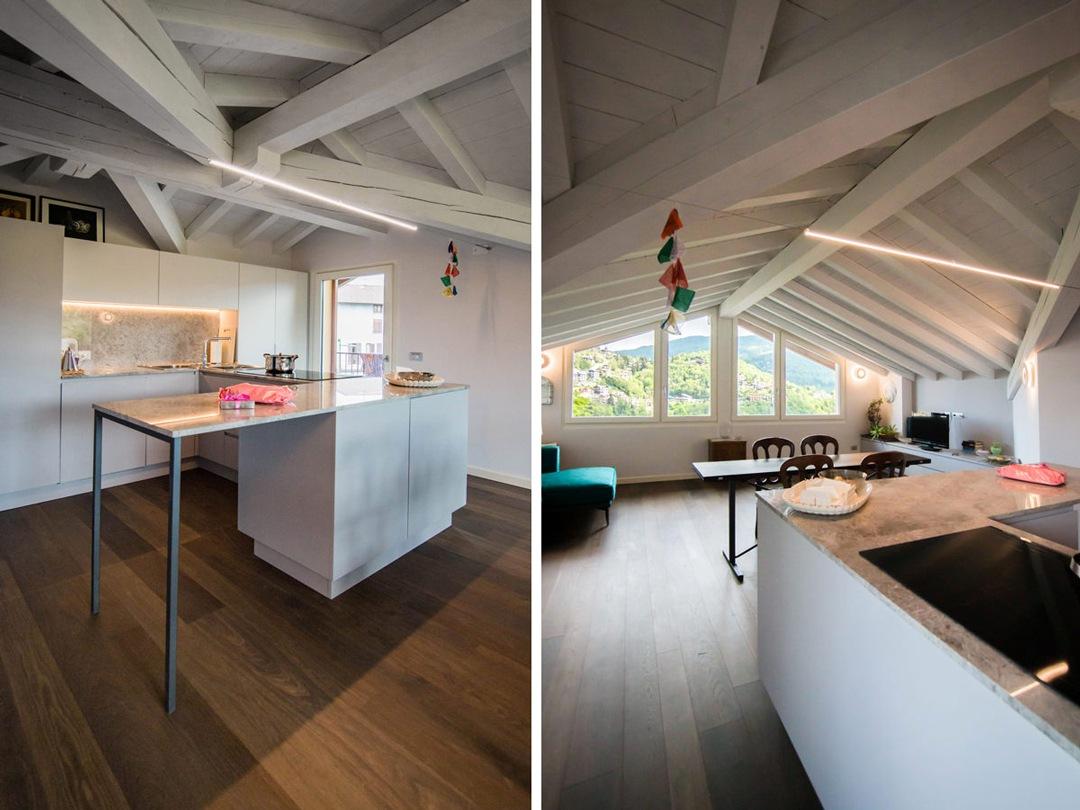 angolo-snack-dettaglio-struttura-metallo-piano-lavoro-cucina-marmo-vista-zona-giorno
