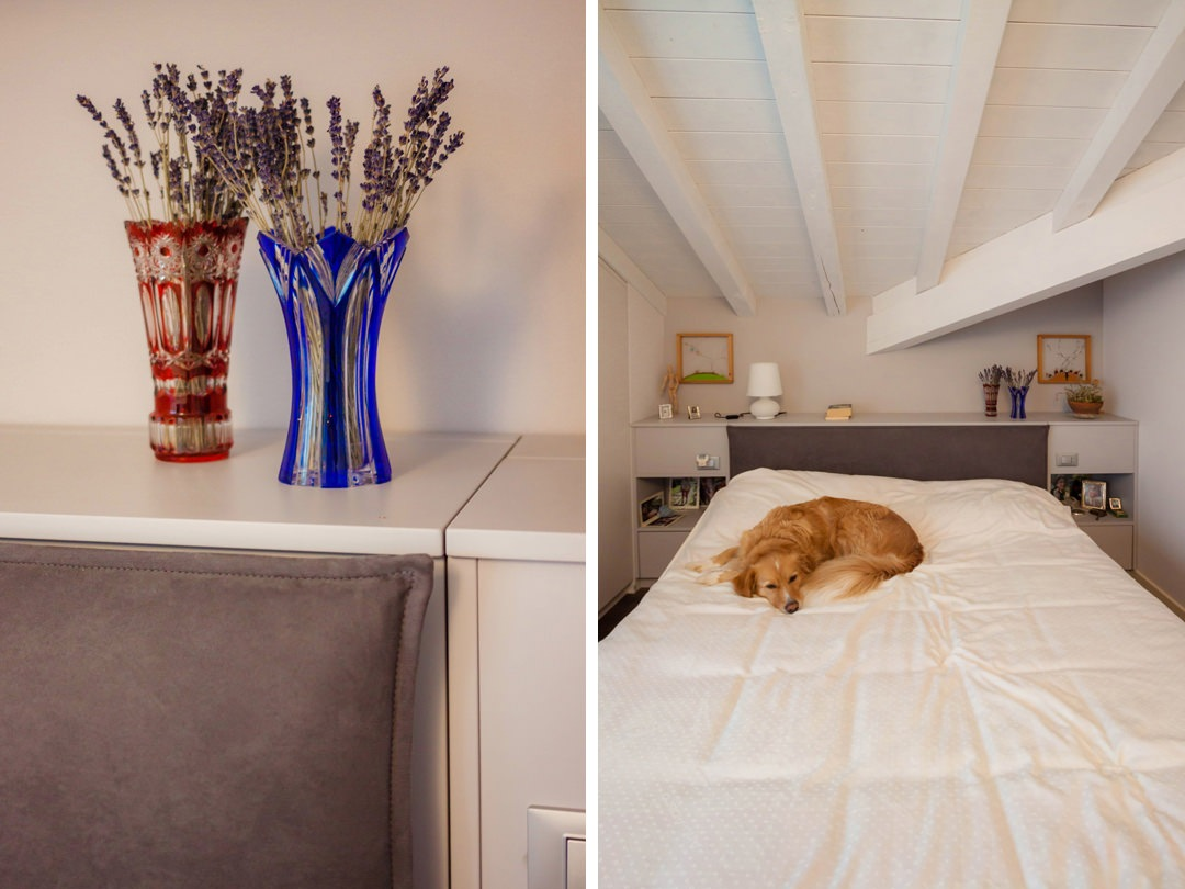 camera-matrimoniale-mansarda-stile-contemporaneo-dettaglio-testata-attrezzata-contenitore