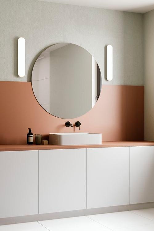 arredamento-bagno-stile-contemporaneo-color-terracotta
