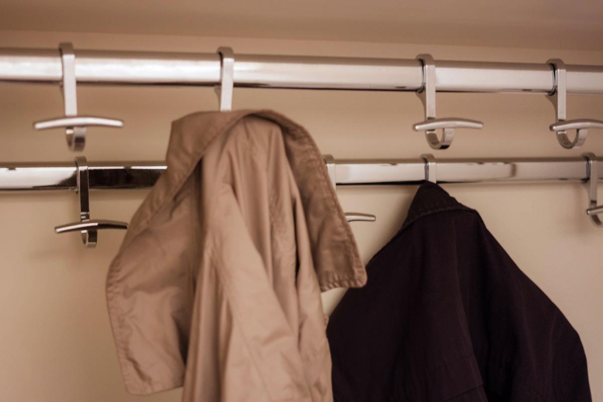 tubolare appenderia orizzontale ottimizzare spazio cappotti