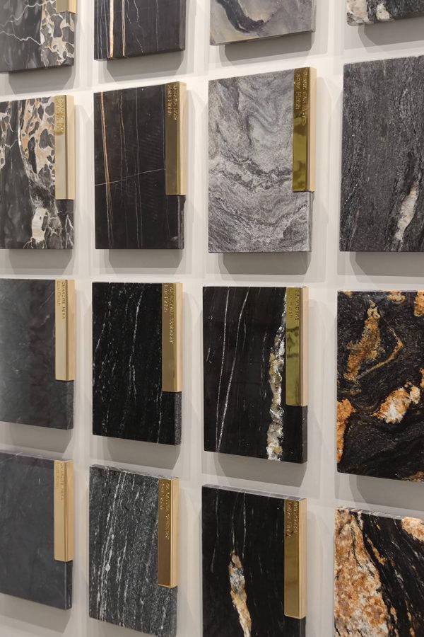 campionario marmo nero Antolini