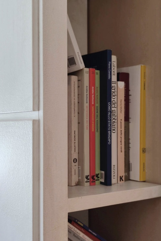 niche bookcase detail with headboard thickness