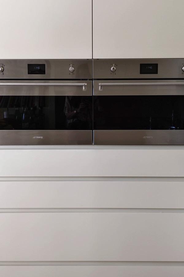 column ovens smeg contemporary kitchen drawers hollow handles